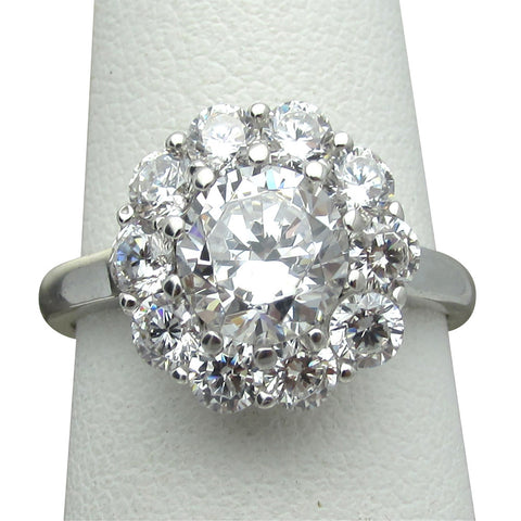 R0326 3.5ct tw Round Halo Ring