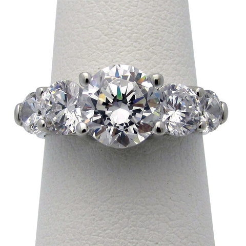 R0328 2.5ct tw Round Five Stone Ring