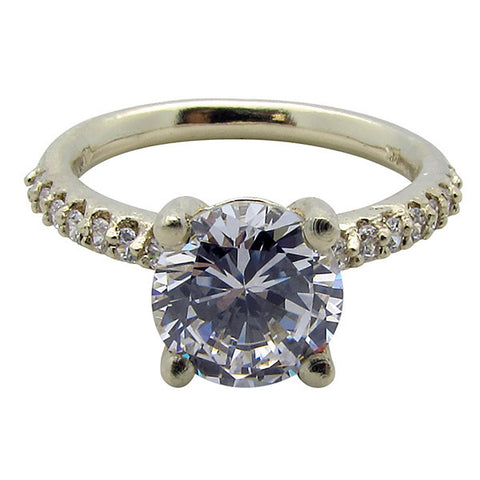R0335 1CT CENTER PAVE SIDE BASKET CENTER RING