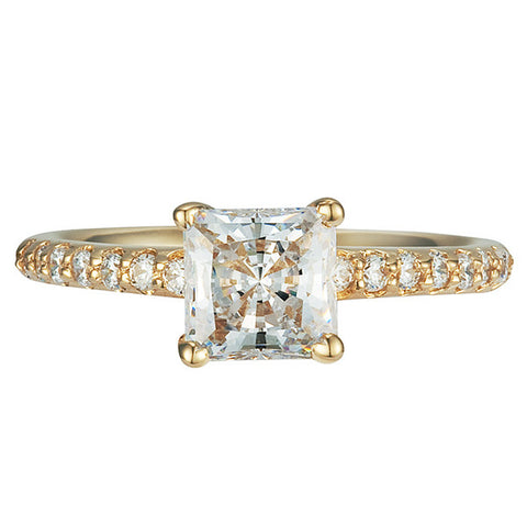 R0336 1CT PRINCESS BASKET CENTER PAVE SIDE RING