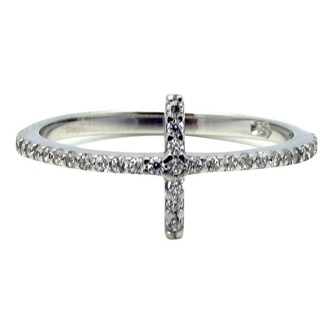 R0356 0.7ct TW CROSS BAND RING