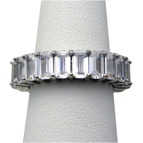 R0404ST  6ct tw Step/Emerald Cut Eternity Band Ring