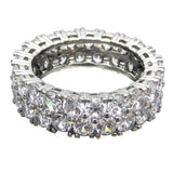 SR54-48 Sterling Silver 6ct tw Round Double Row Eternity Band
