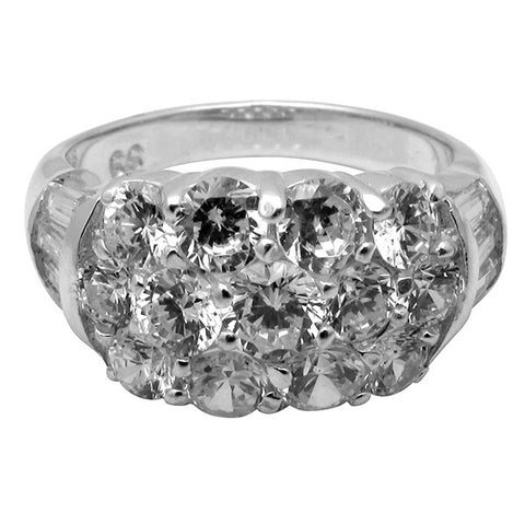 R5560 4ct tw Round / Baguette Band Ring