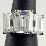 R5959 17ct tw Step Cut Three Stone Ring