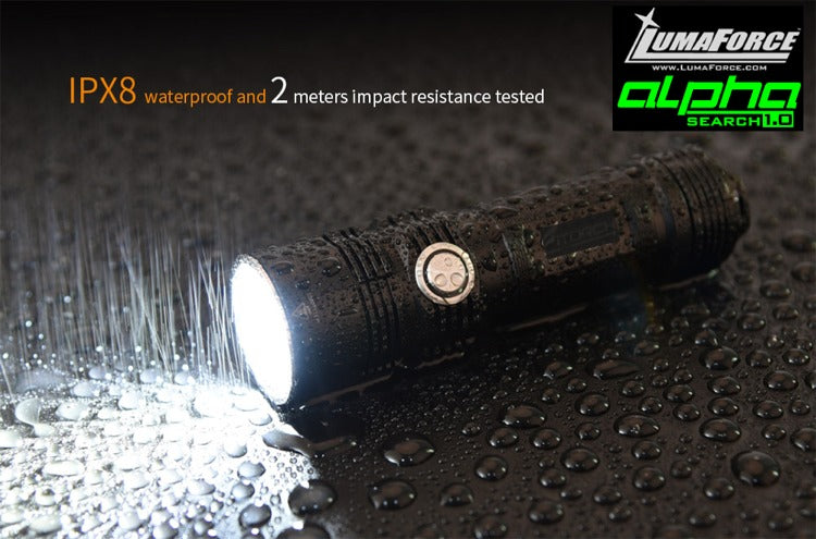 LumaForce Alpha SEARCH 1.0 - The Compact Search FlashLight - 3600 Lumens