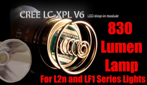 830 LUMEN XM-L2 CREE LUMAFORCE DROP IN BULB FOR LF1 SERIES/SolarForce/Surefire 6p, G2 LIGHTS