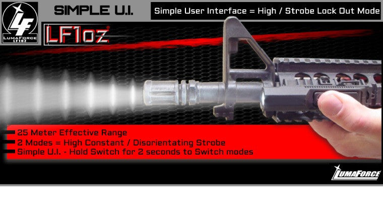 LumaForce LF1oz - The 1 ounce Weapon Light System