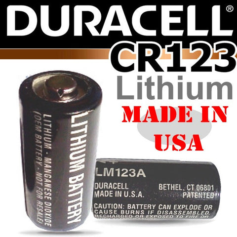 DURACELL *Made in USA CR123 Lithium Cells - 10 Pack Bulk Buy Special!