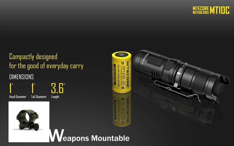 Nitecore MT10C compact tactical light,
