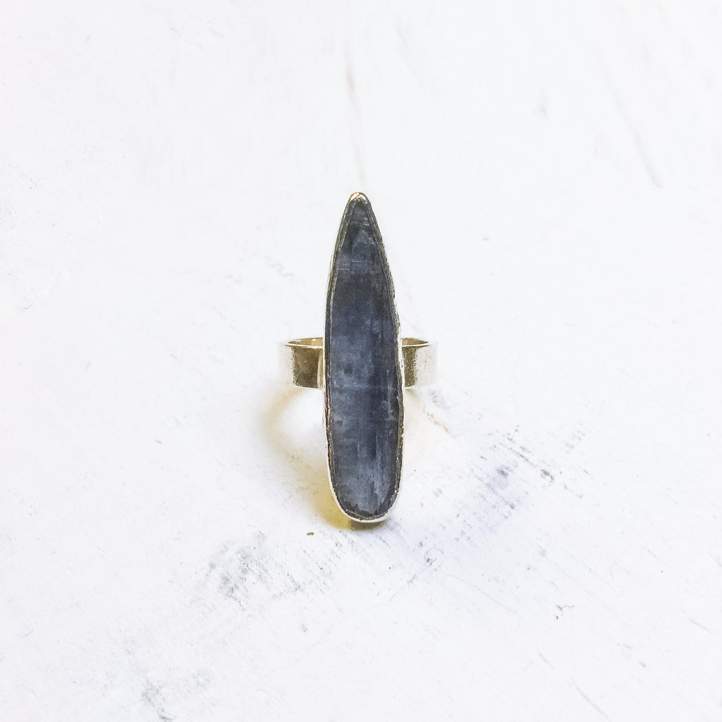 Kyanite Spear Ring