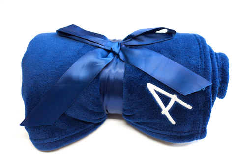 Personalized Initial Luxury Plush Blanket