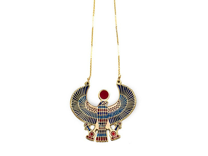 collections products egyptian lot gold necklace pendant product tone nefertiti image ankh necklaces jewelry