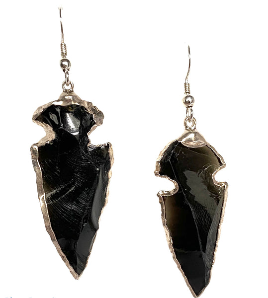 Black Tourmaline Arrowhead earrings