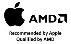 Recommended by Apple & Qualified by AMD Logo