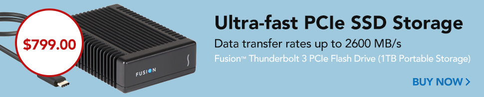 Fusion Thunderbolt 3 PCIe Flash Drive