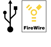 USB 3.0 and FireWire Logos