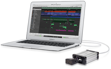 MacBook Air with Echo ExpressCard Pro Thunderbolt Adapter