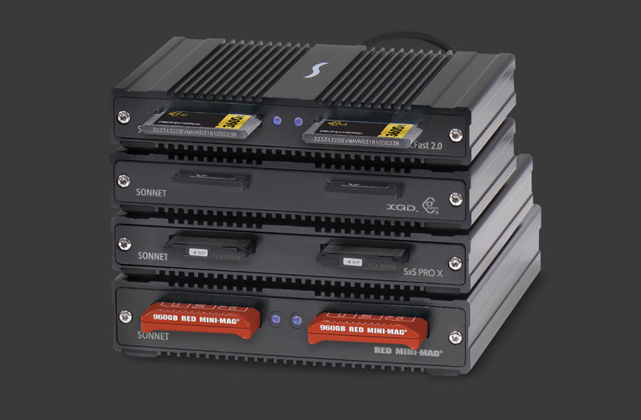 SF3 Series - SxS PRO X Card Reader Stacked Readers