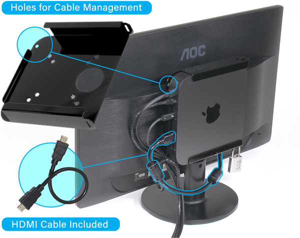 MacCuff mini Cable Management and HDMI Cable