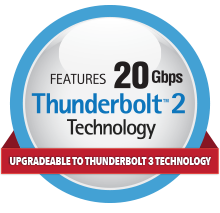 Thunderbolt 2/Thunderbolt 3 Upgradeable Logo