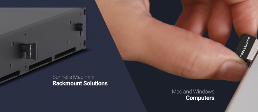 Supports Sonnet's Mac mini Rackmount Solutions and Mac & Windows Computers