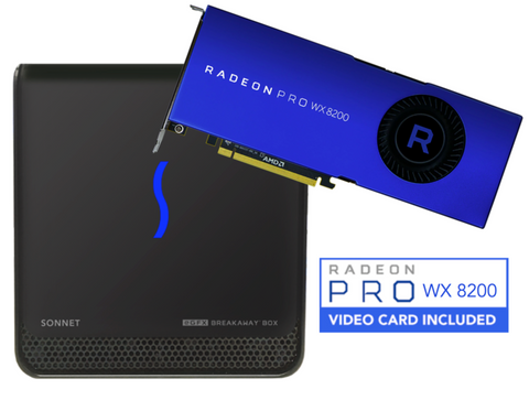 eGFX Breakaway Box 650 Bundle (with Radeon Pro WX 8200 Graphics Card)