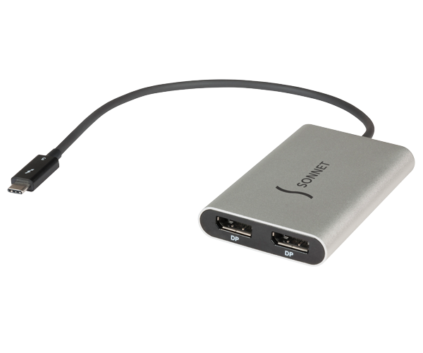 Thunderbolt 3-to-Dual DisplayPort Adapter