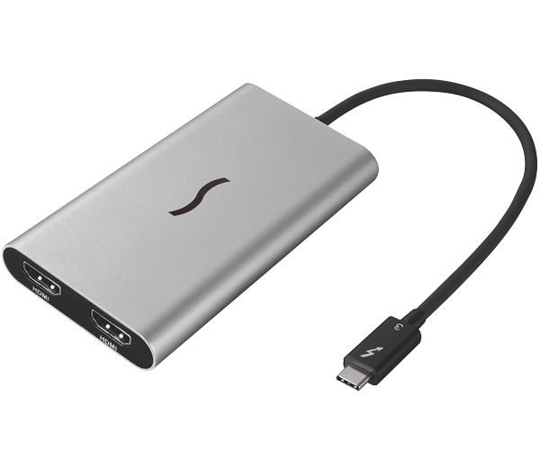 Thunderbolt 3 to Dual HDMI 2.0 Adapter