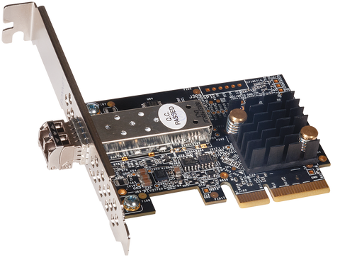 Solo10G SFP+ PCIe Card (10 Gigabit Ethernet PCIe 3.0 card with short-range SFP+ transceiver)