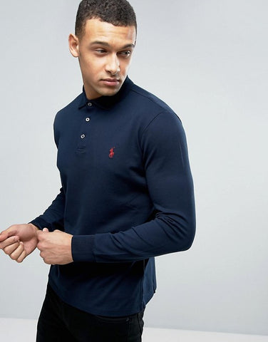Fashion Clothes For Men : Long Sleeve Polo