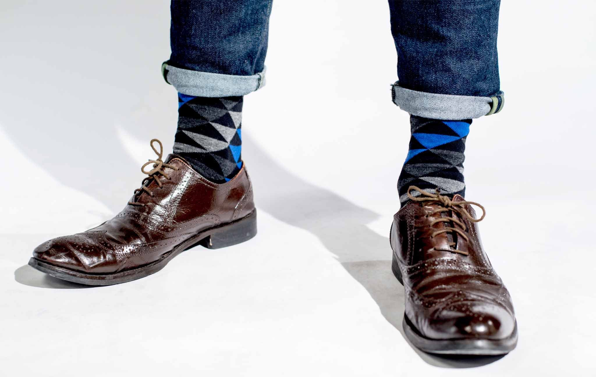 How to Pair Colorful Socks with Brown Shoes - Society Socks