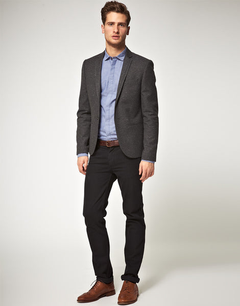 Casual Look - Brown Shoes and Black Pants