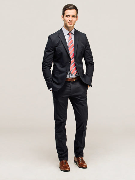 Formal Look - Brown Shoes and Black Pants