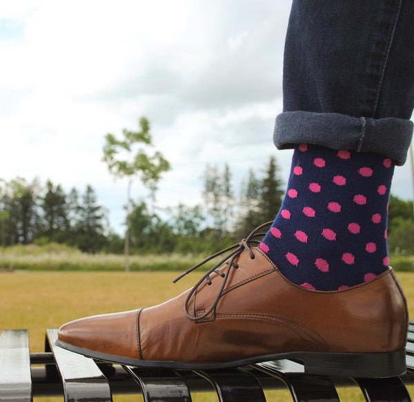 polka-dot socks with jeans