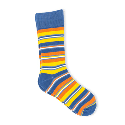 Men's blue and yellow socks
