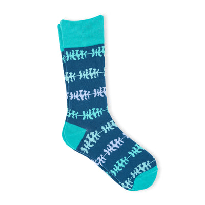 Men's blue and turquoise socks
