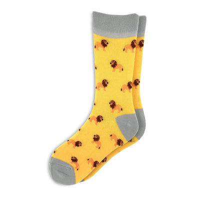 Bright Yellow women's lion socks