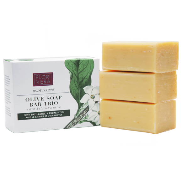 Olive Soap Bar Trio