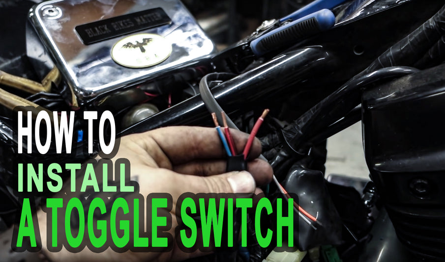 The EASIEST Way to Install a Toggle Switch on Honda Shadow
