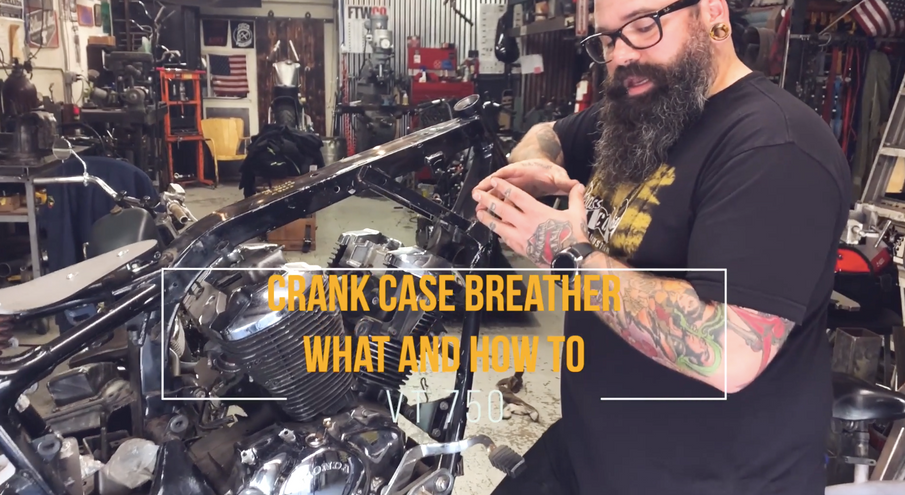 Crankcase breather on a Honda VT750