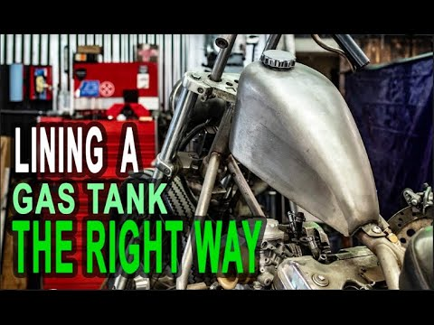 Lining a Honda Shadow Gas Tank - THE BASICS
