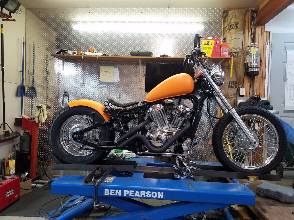 2000 Honda Shadow Vlx600 Deluxe Customer Feature Tj Brutal Customs Bob Motorcycle More In Progress And Before Pics Below