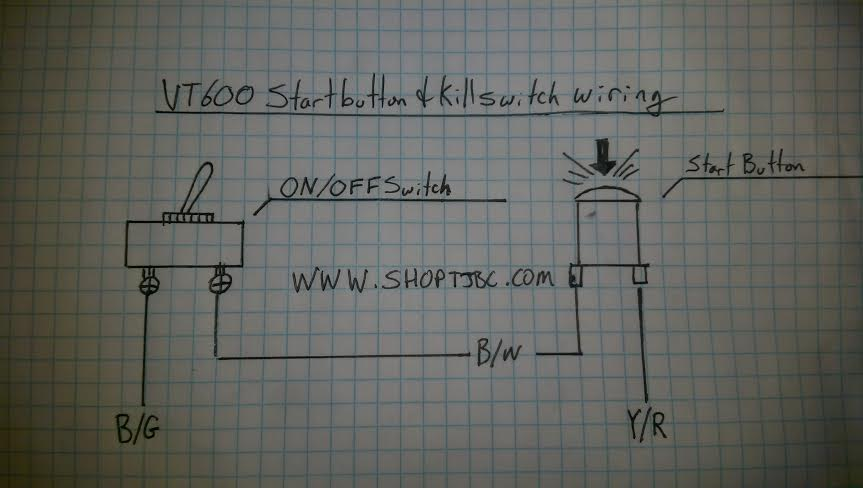 start button and kill switch wiring for 2 pole switches