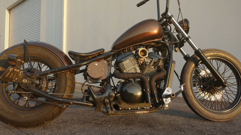 10 bobber mods for the honda shadow tj brutal customs. Black Bedroom Furniture Sets. Home Design Ideas