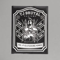 TJ Brutal Customs Burn To Ride Poster