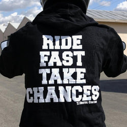 Ride Fast Take Chances TJ Brutal Customs Zip Hoody