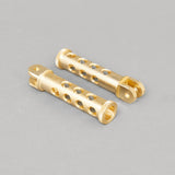 TJ Brutal Customs Holey Foot Pegs Brass