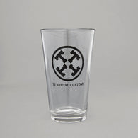 Tj Brutal Pint Glass