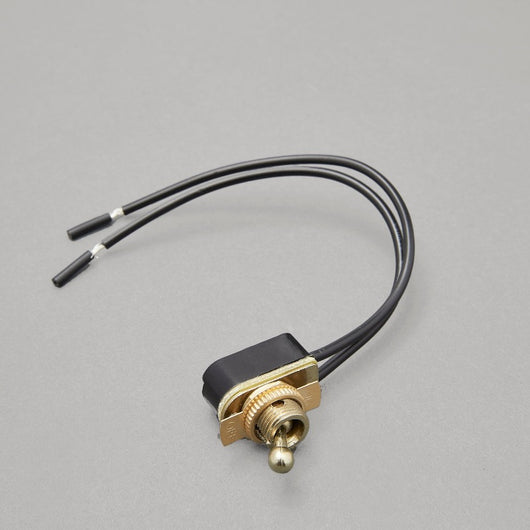 On/Off Toggle Switch - Brass or Chrome